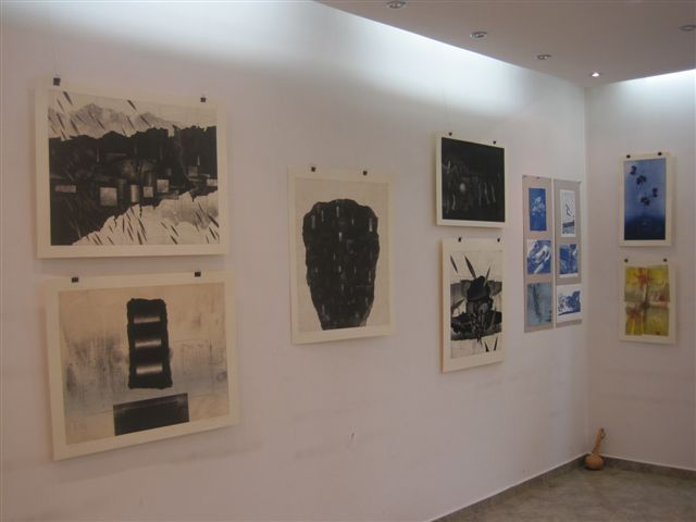 Lessedra. General view with works of Keisuke Kojima, Alexandra Dimitrova and Yoko Kojima